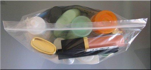 Normativa líquidos equipaje de mano