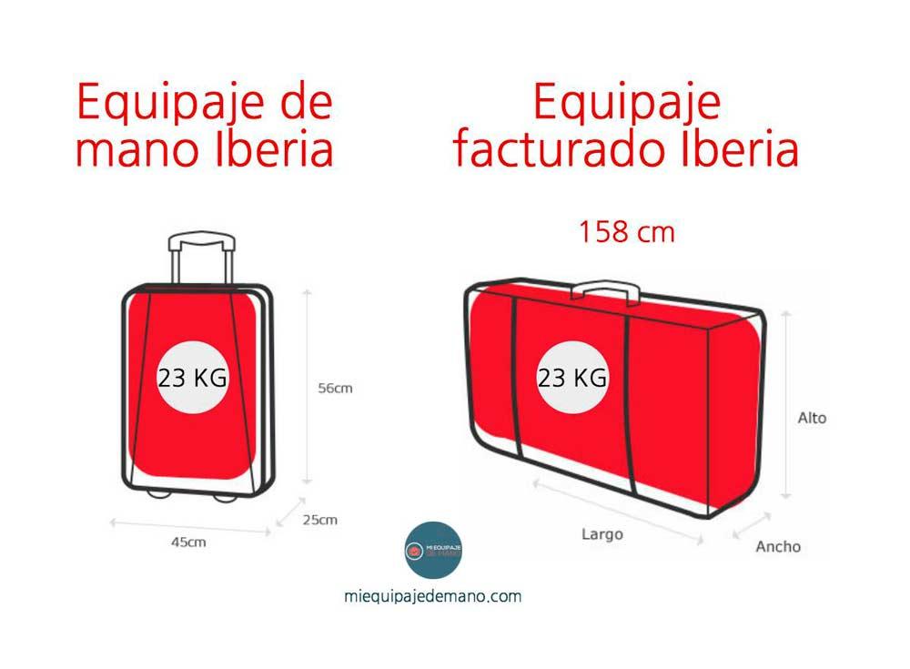 Iberia bebés equipaje permitido