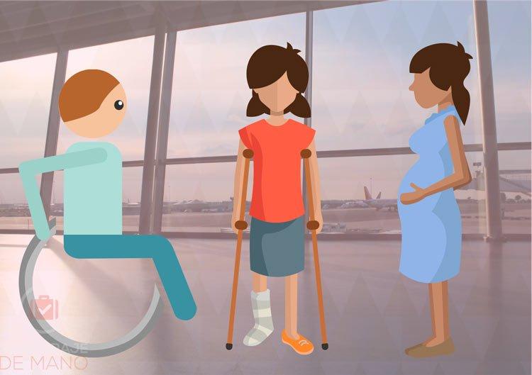 Pasajeros especiales avión recomendaciones