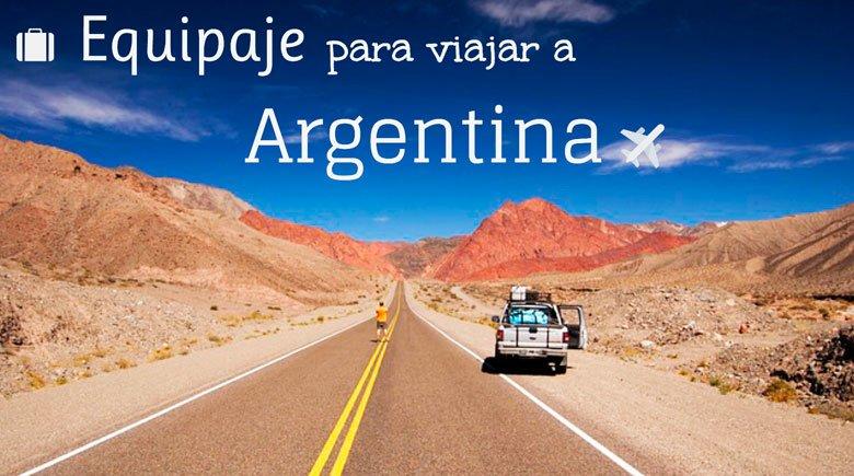 qué llevar en la maleta para viajar a Argentina