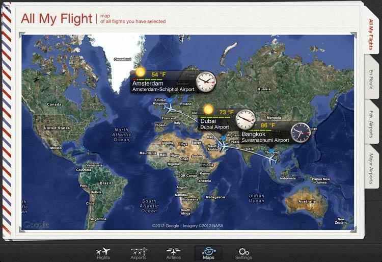 app ver vuelo tiempo real