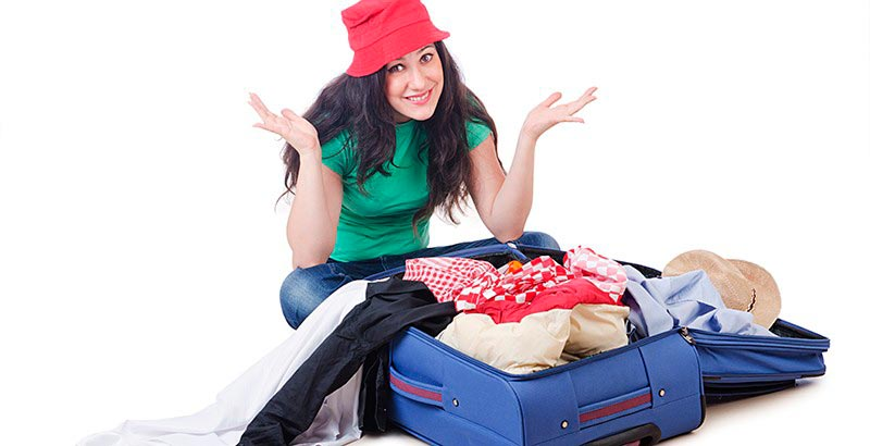 hacer maleta para viaje largo