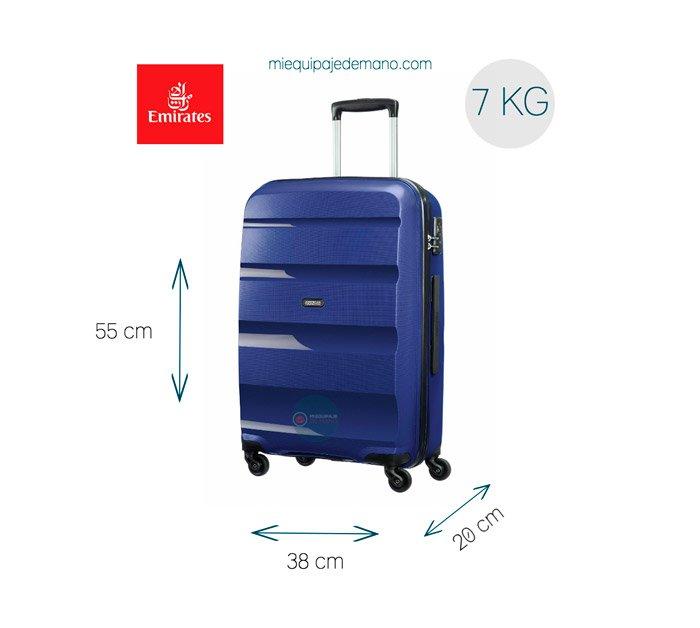 maleta de mano para fly emirates