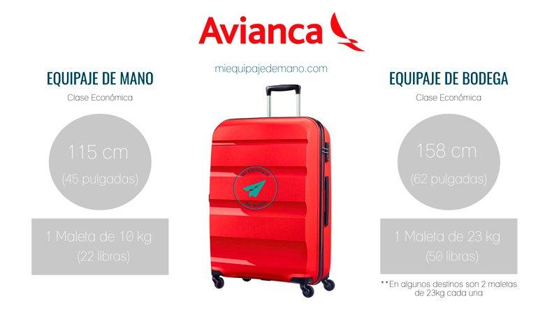 avianca equipaje