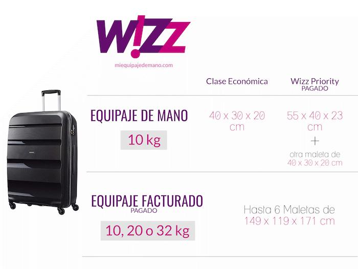equipaje wizz air cambios