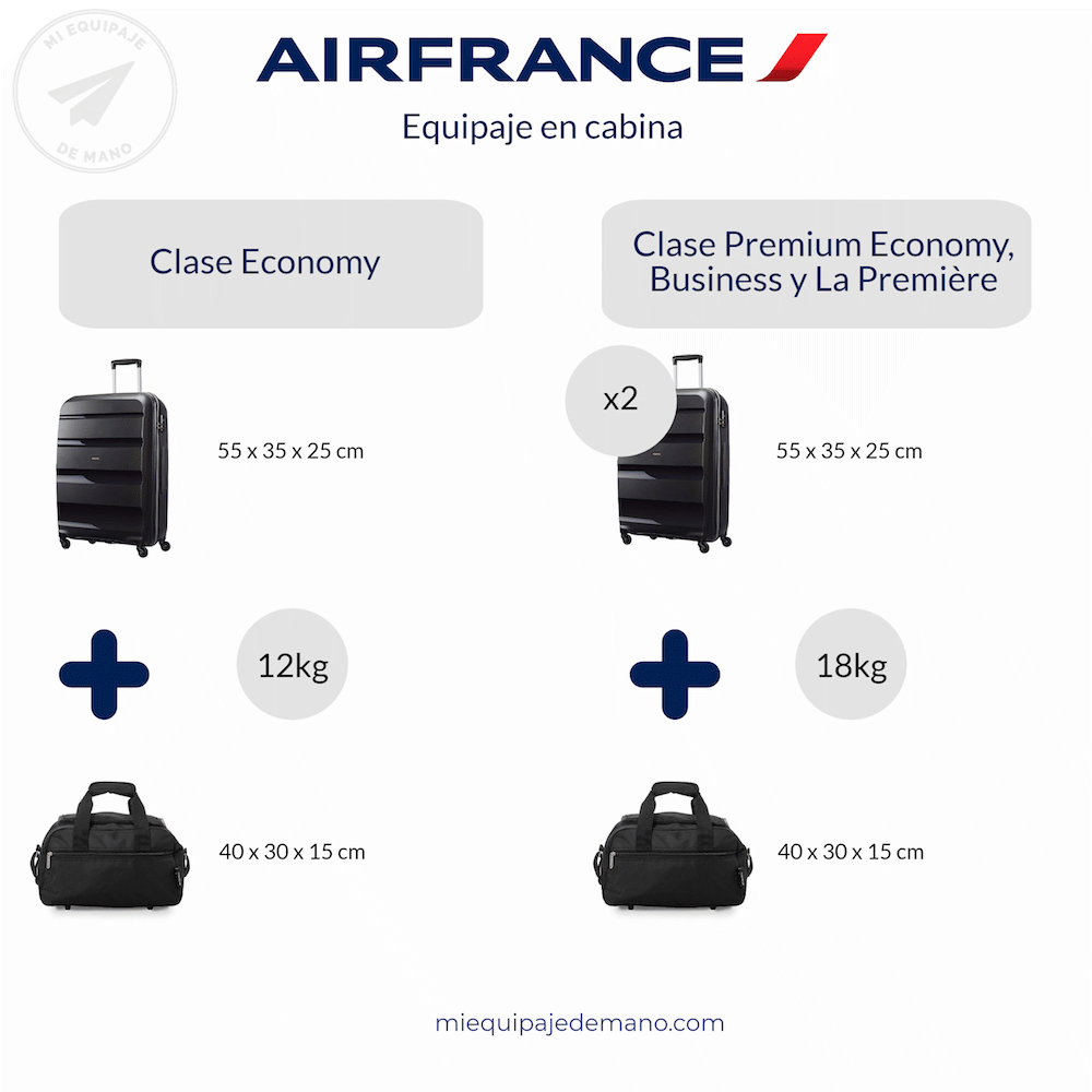 equipaje cabina air france