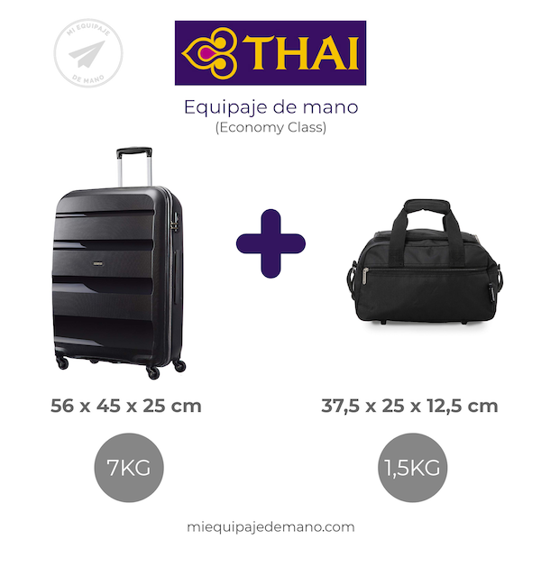 thai airways equipaje de mano